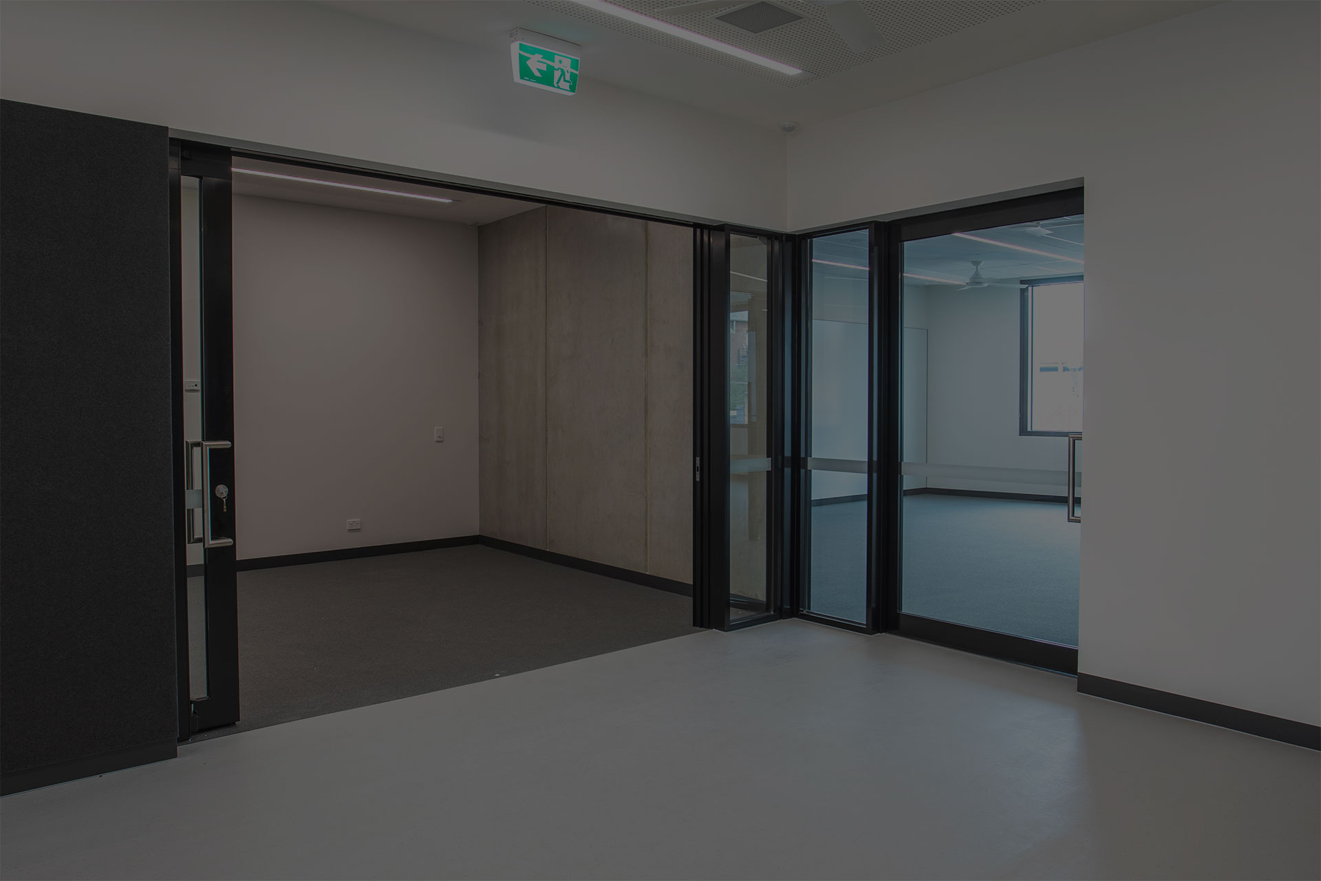 image of acoustic sliding door system at a secondary school